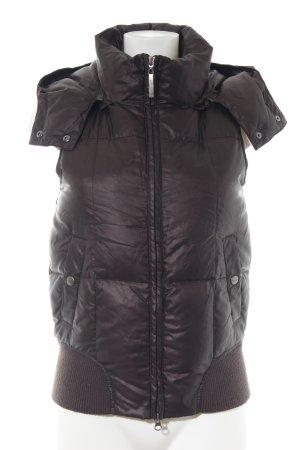 Closed Gewatteerd vest bruin quilten patroon casual uitstraling