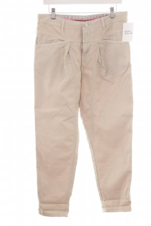 Closed Pantalone jersey beige-argento stile casual