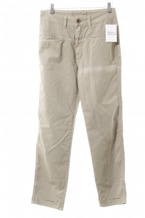 Closed Stoffhose camel Casual-Look