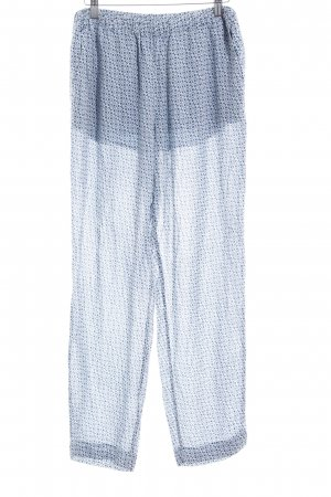 Closed Jersey Pants azure-dark blue abstract pattern casual look