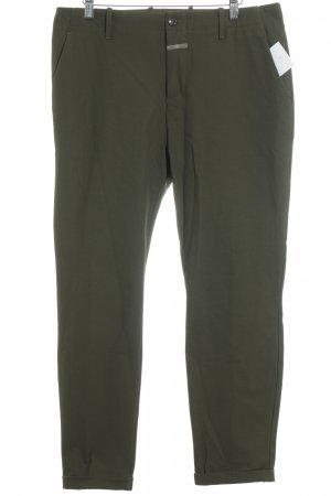 Closed Jersey Pants olive green casual look