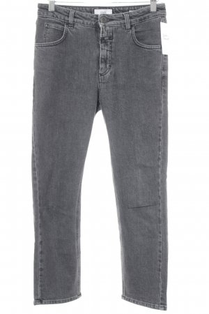 Closed Straight-Leg Jeans anthrazit Street-Fashion-Look