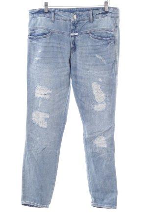 Closed Straight-Leg Jeans blau Used-Optik