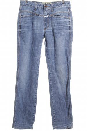 Closed Straight-Leg Jeans hellblau-wollweiß Washed-Optik
