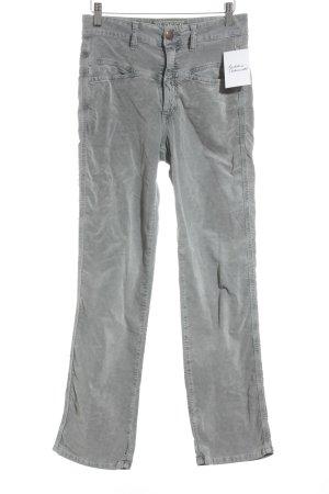 Closed Straight-Leg Jeans hellgrau Samt-Optik