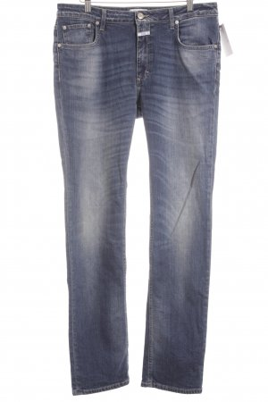 Closed Straight-Leg Jeans stahlblau Bleached-Optik