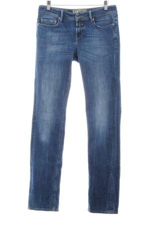 Closed Jeans met rechte pijpen staalblauw simpele stijl