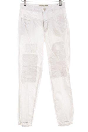 Closed Straight-Leg Jeans weiß Destroy-Optik
