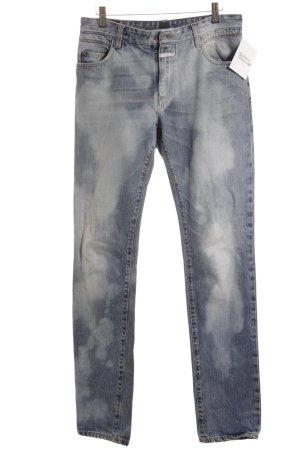 Closed Straight-Leg Jeans weiß-kornblumenblau meliert Boyfriend-Look