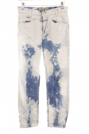 Closed Straight-Leg Jeans weiß-stahlblau Street-Fashion-Look