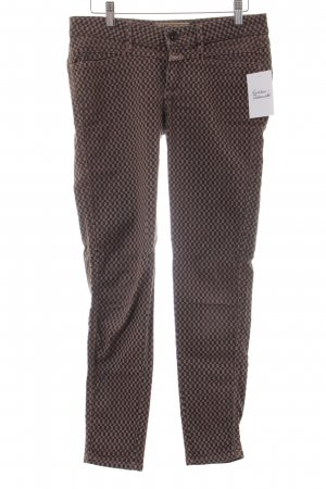 Closed Stretch Jeans schwarzbraun-hellbraun Karomuster Casual-Look