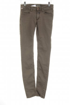 Closed Stretchhose camel Casual-Look