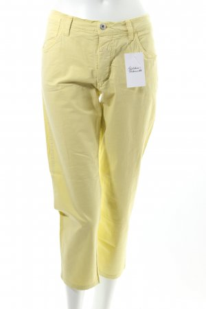 Closed Stretchhose gelb Casual-Look