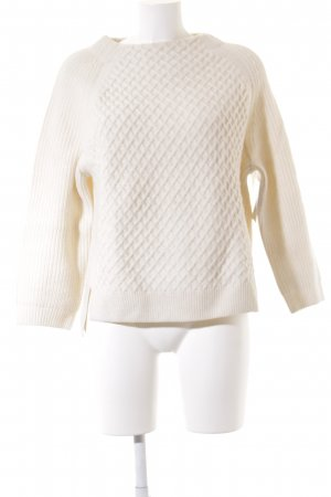 Closed Strickpullover creme Lochstrickmuster Casual-Look