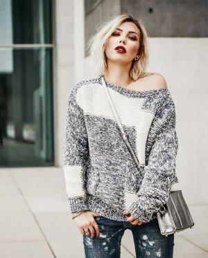 Closed Strickpullover grau-wollweiß Street-Fashion-Look