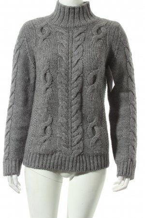 Closed Strickpullover grau Zopfmuster Kuschel-Optik