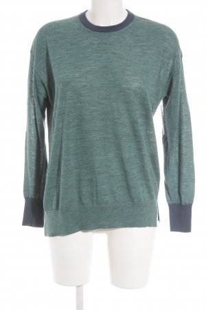Closed Strickpullover petrol-türkis Colourblocking Casual-Look