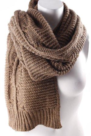 Closed Écharpe en tricot brun style décontracté
