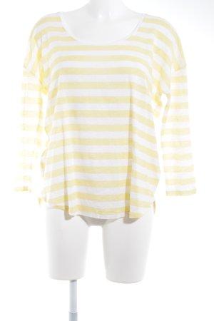 Closed Camisa tejida amarillo pálido-blanco estampado a rayas look casual