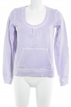 Closed Sweatshirt helllila Washed-Optik