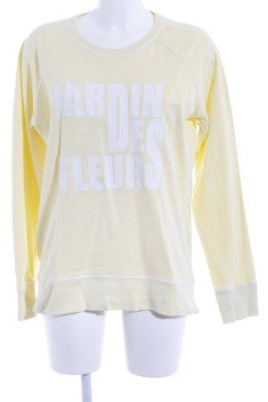 Closed Sweatshirt weiß-hellgelb Schriftzug gedruckt Casual-Look