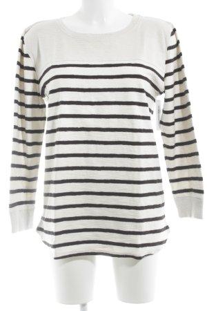 Closed Sweatshirt wollweiß-dunkelblau Streifenmuster Casual-Look