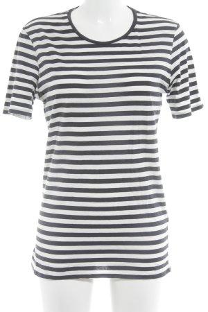 Closed T-Shirt dunkelblau-weiß Streifenmuster Casual-Look