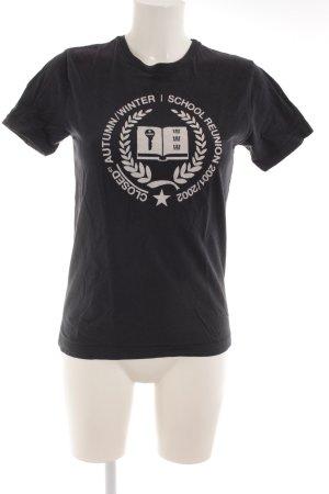 Closed T-Shirt dunkelblau-wollweiß Motivdruck Casual-Look