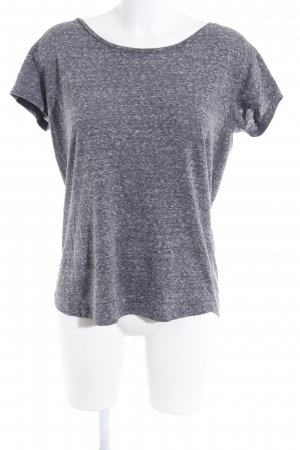 Closed T-Shirt grau-hellgrau meliert Casual-Look