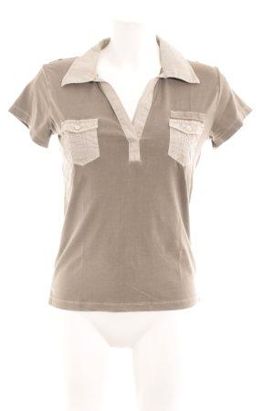 Closed T-Shirt hellbraun-hellbeige Casual-Look