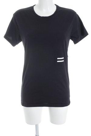 Closed T-Shirt schwarz abstrakter Druck minimalistischer Stil