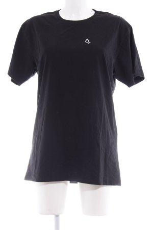 Closed T-Shirt schwarz platzierter Druck Casual-Look