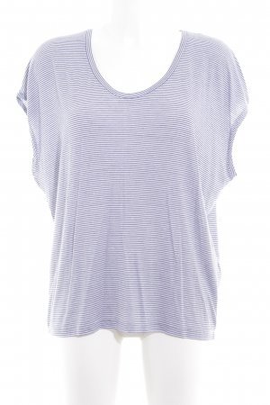Closed T-Shirt weiß-dunkelblau Streifenmuster Casual-Look
