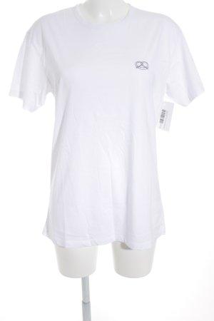 Closed T-Shirt weiß-schwarz Motivdruck Casual-Look