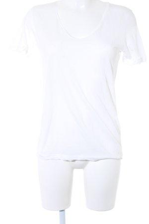 Closed T-Shirt weiß-taupe Schriftzug gedruckt Casual-Look