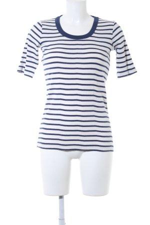 Closed T-Shirt wollweiß-dunkelblau Streifenmuster Casual-Look