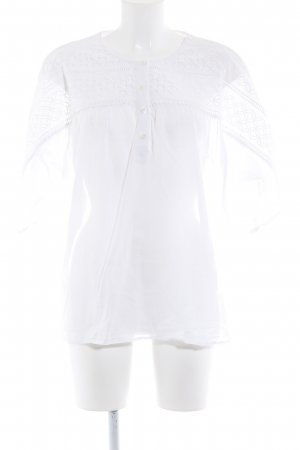 Closed Transparenz-Bluse weiß Casual-Look