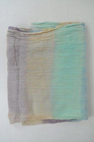 CLOSED Tuch Schal Halstuch Pastelltöne Farbverlauf Gecreppt Baumwolle Fransen