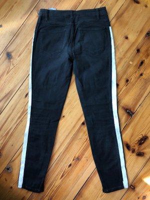 Closed Hoge taille jeans zwart-wit Katoen
