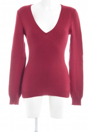 Closed V-Ausschnitt-Pullover rot Casual-Look