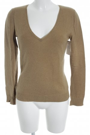 Closed V-Ausschnitt-Pullover sandbraun Casual-Look