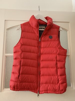 Closed Down Vest red-dark red
