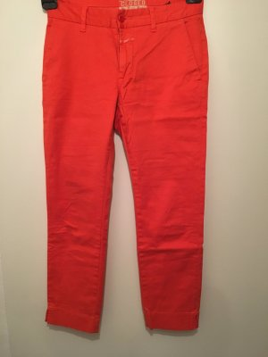 Closed 3/4 Length Trousers red-orange