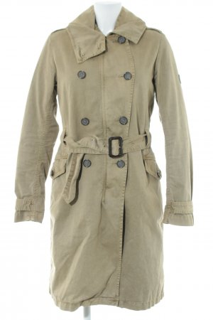 Closed Wintermantel khaki Business-Look