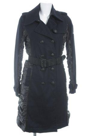 Closed Wintermantel dunkelblau-schwarz schlichter Stil