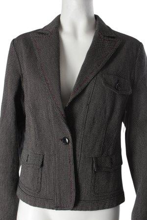 Closed Woll-Blazer schwarz-weiß Punktemuster