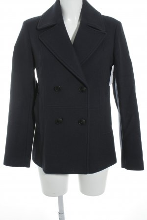Closed Manteau en laine bleu foncé moucheté style décontracté