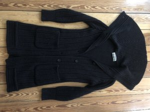 Closed Knitted Coat black wool