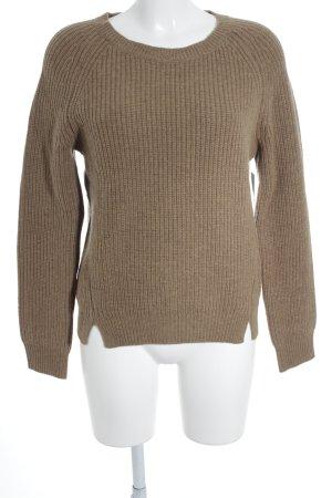 Closed Jersey de lana marrón look casual