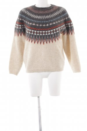 Closed Wollpullover creme-grau abstraktes Muster Casual-Look